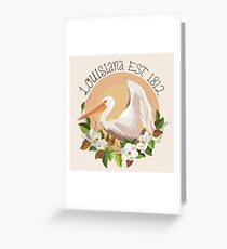 Louisiana Established in 1812 Greeting Card