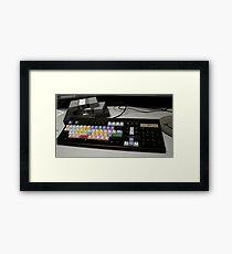 Avid Workstation Framed Print