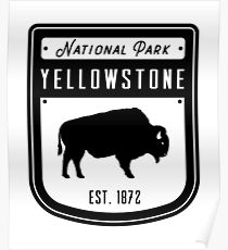 Yellowstone National Park Wyoming Badge Poster