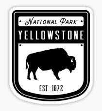Yellowstone National Park Wyoming Badge Sticker