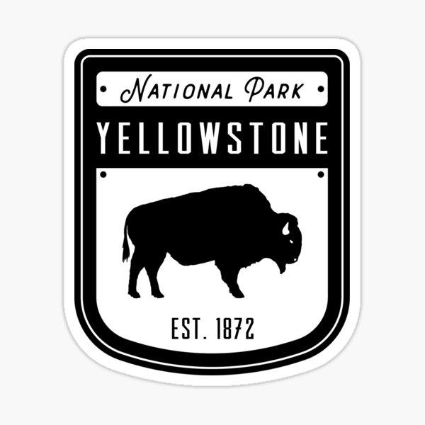 Yellowstone National Park Wyoming Badge Sticker