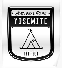 Yosemite National Park California Badge Poster