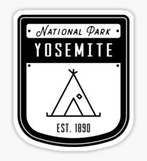 Yosemite National Park California Badge Sticker
