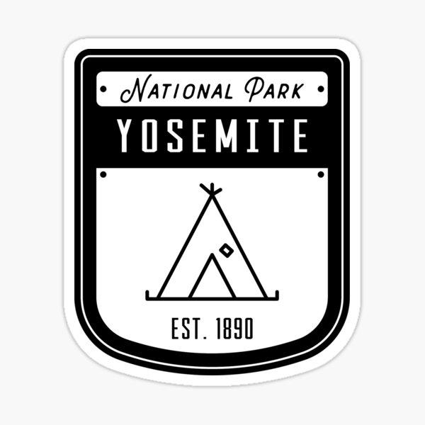 Yosemite National Park California Badge Sticker