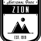Zion National Park Utah Badge by nationalparks