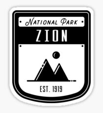 Zion National Park Utah Badge Sticker