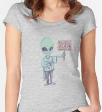 There is Not Alien Here Women's Fitted Scoop T-Shirt