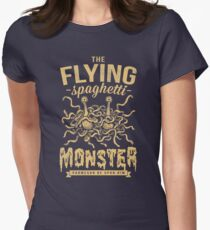 The Flying Spaghetti Monster (dark) Women's Fitted T-Shirt
