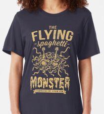The Flying Spaghetti Monster (dark) Slim Fit T-Shirt