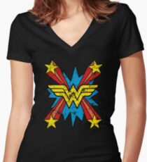 super woman Women's Fitted V-Neck T-Shirt