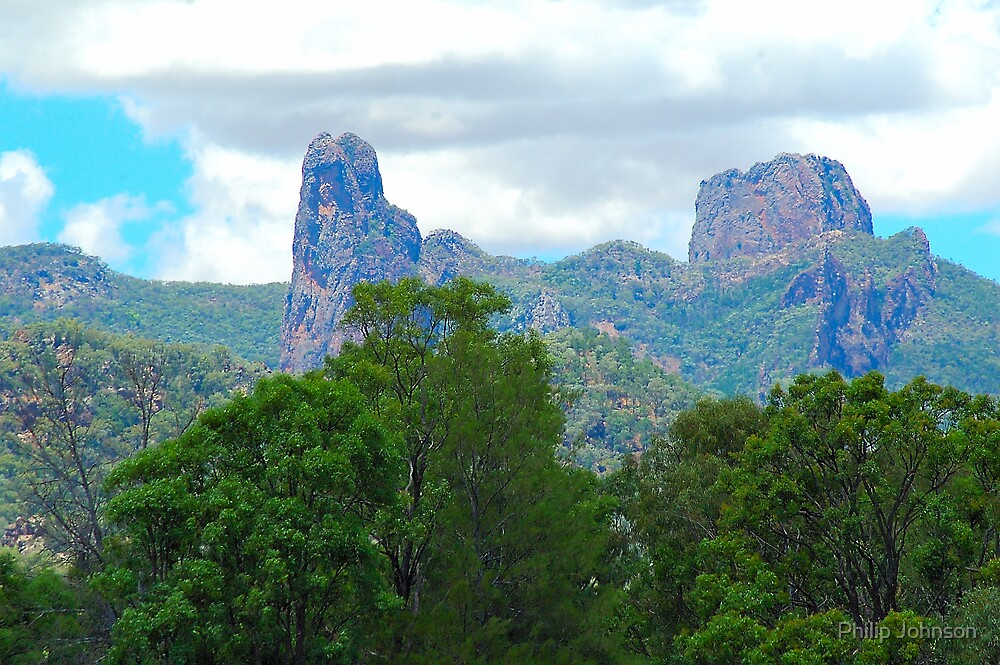 Warrambungle Morning, Warrambungles National Park NSW Australia by Philip Johnson