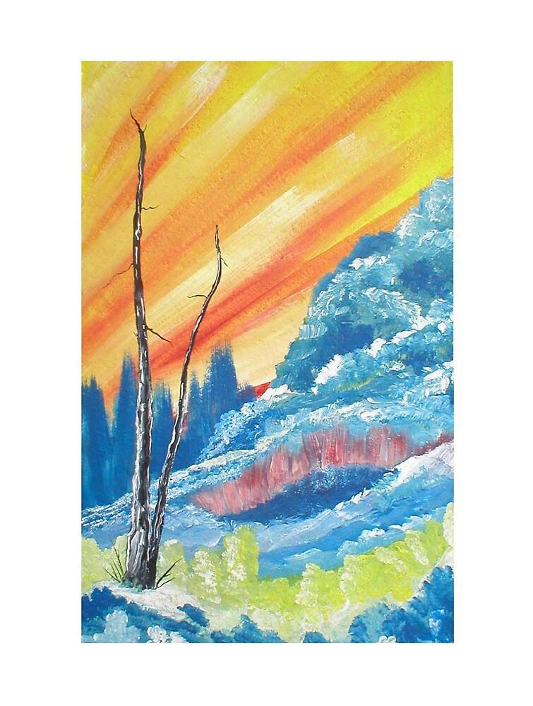 Blue Forest Sunrise by Ginger Lovellette