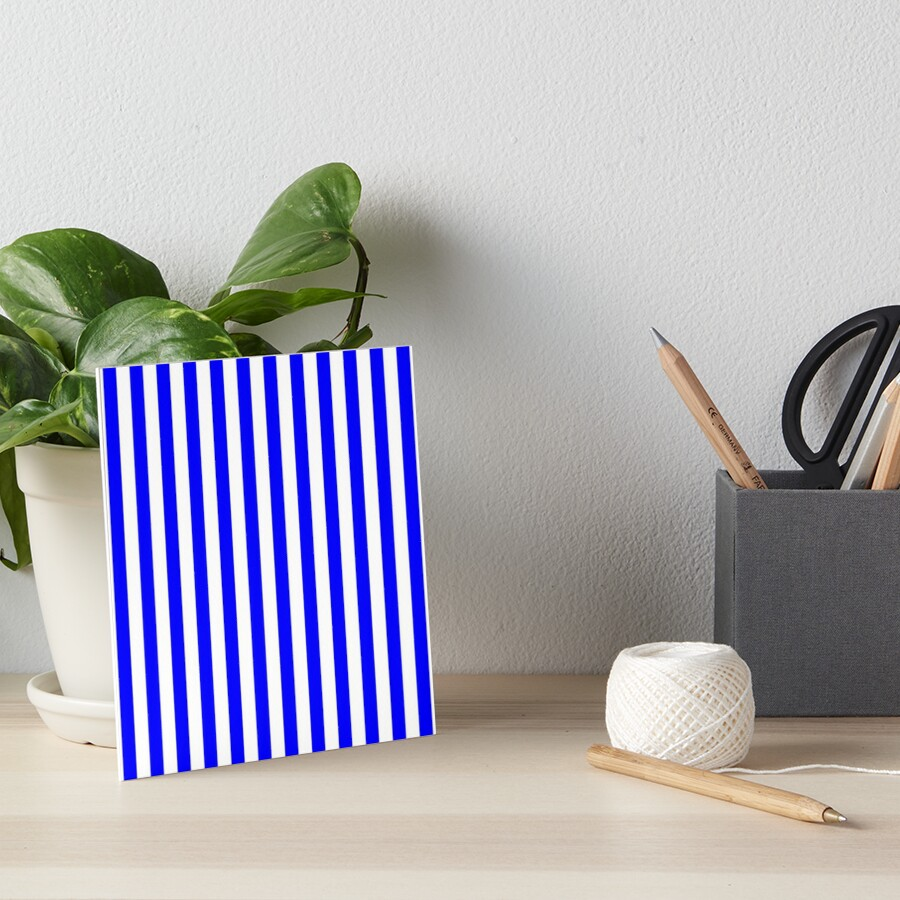 0fb7a13c449 Large Royal Blue Stripe and White Vertical Cabana Tent Stripes by podartist