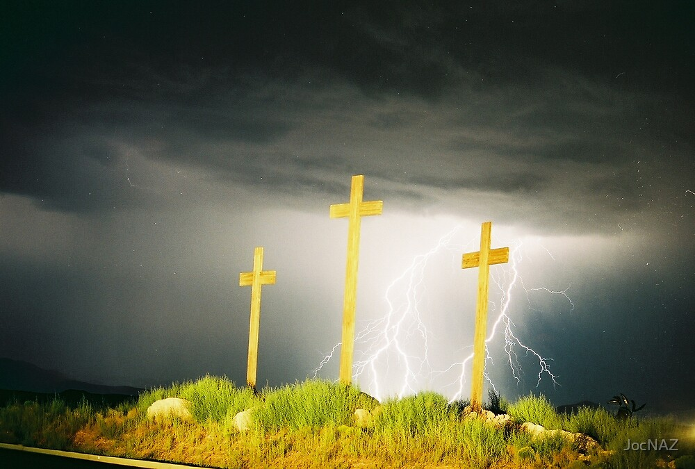 Lightning at the Crosses V by JocNAZ