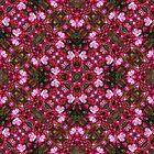 Spring blossoms kaleidoscope - Strawberry Parfait Crabapple by rvjames