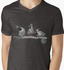 Three Northern Cardinals Birds Print - Bird Drawing Art T-Shirt