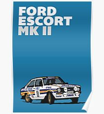 Fortitude's Ford Escort Mark 2 BDA Cosworth Poster