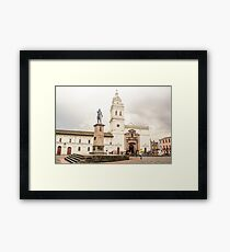 de Santo Domingo square and cathedral Framed Print