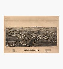 Aerial View of Broadalbin, New York (1880) Photographic Print