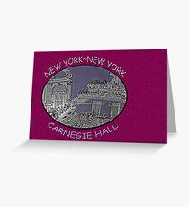 NYC-Carnegie Hall Greeting Card