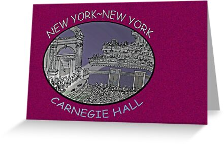 NYC-Carnegie Hall by James Lewis Hamilton