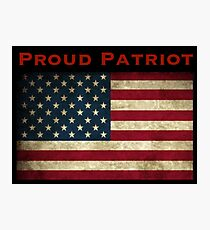 Proud Patriot Photographic Print