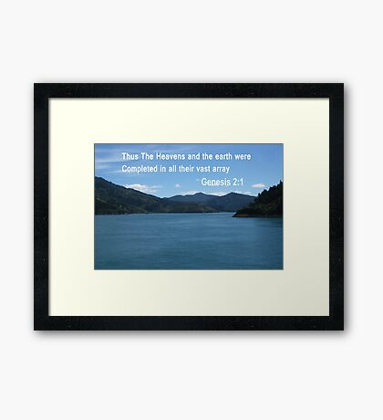 Blue Waters of the Marlborough Sounds /Spiral pattern(4091 Views) Framed Print