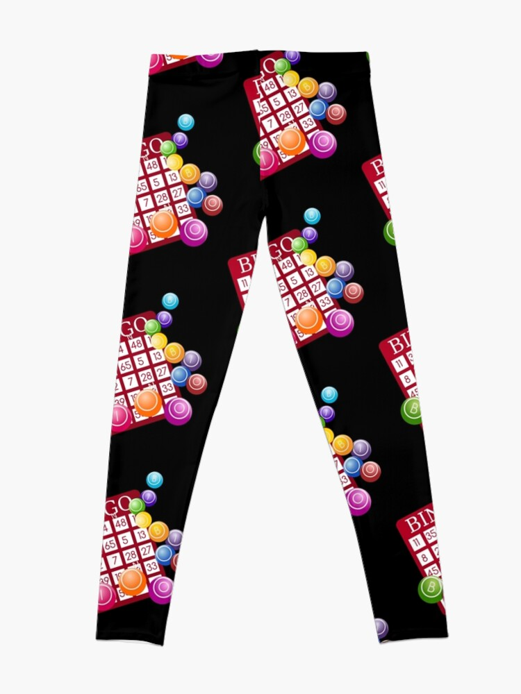 Alternate view of Bingo Balls - Bingo Player Gift  Leggings
