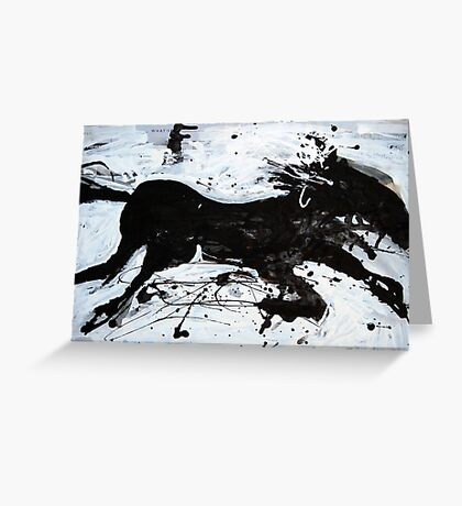 Black Horse 2 Greeting Card