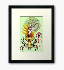 Goblet Of Fire  / black Framed Print