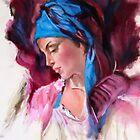 study woman after Pino Daeni by Hidemi Tada