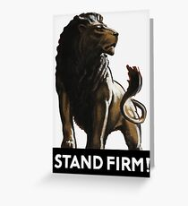 Stand Firm Lion Greeting Card