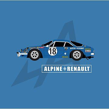 Alpine A110 Rallycar by AutomotiveArt
