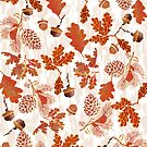 A pattern of acorn,pine cone & Leaves (747  Views) by aldona
