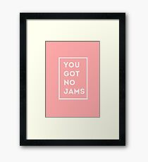 BTS/Bangtan Sonyeondan - You Got No Jams (Pink) Framed Print