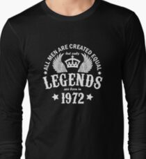Legends are Born in 1972 T-Shirt