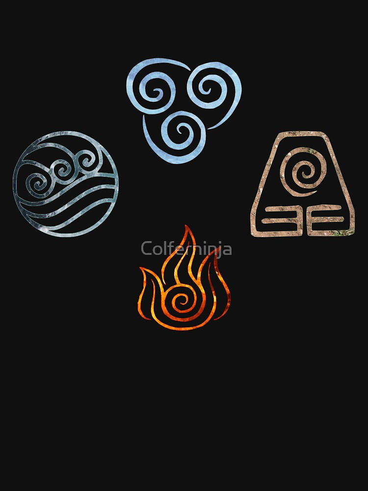 The four Elements Avatar symbols | Unisex T-Shirt