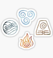 The four Elements Avatar symbols Sticker