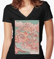 Sweet Dreams, Red Panda Women's Fitted V-Neck T-Shirt
