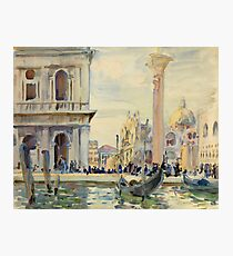 John Singer Sargent - The Piazzetta Photographic Print