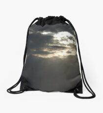 Cloudy Sun Rays Drawstring Bag