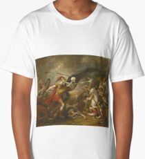 John Trumbull - Joshua At The Battle Of Ai - Attended By Death Long T-Shirt