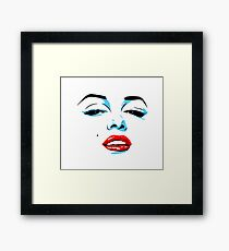 Marilyn Monroe inspired pop art Framed Print