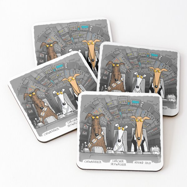 Hound Solo (assorted) Coasters (Set of 4)