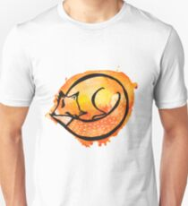 Watercolor sleeping fox Unisex T-Shirt