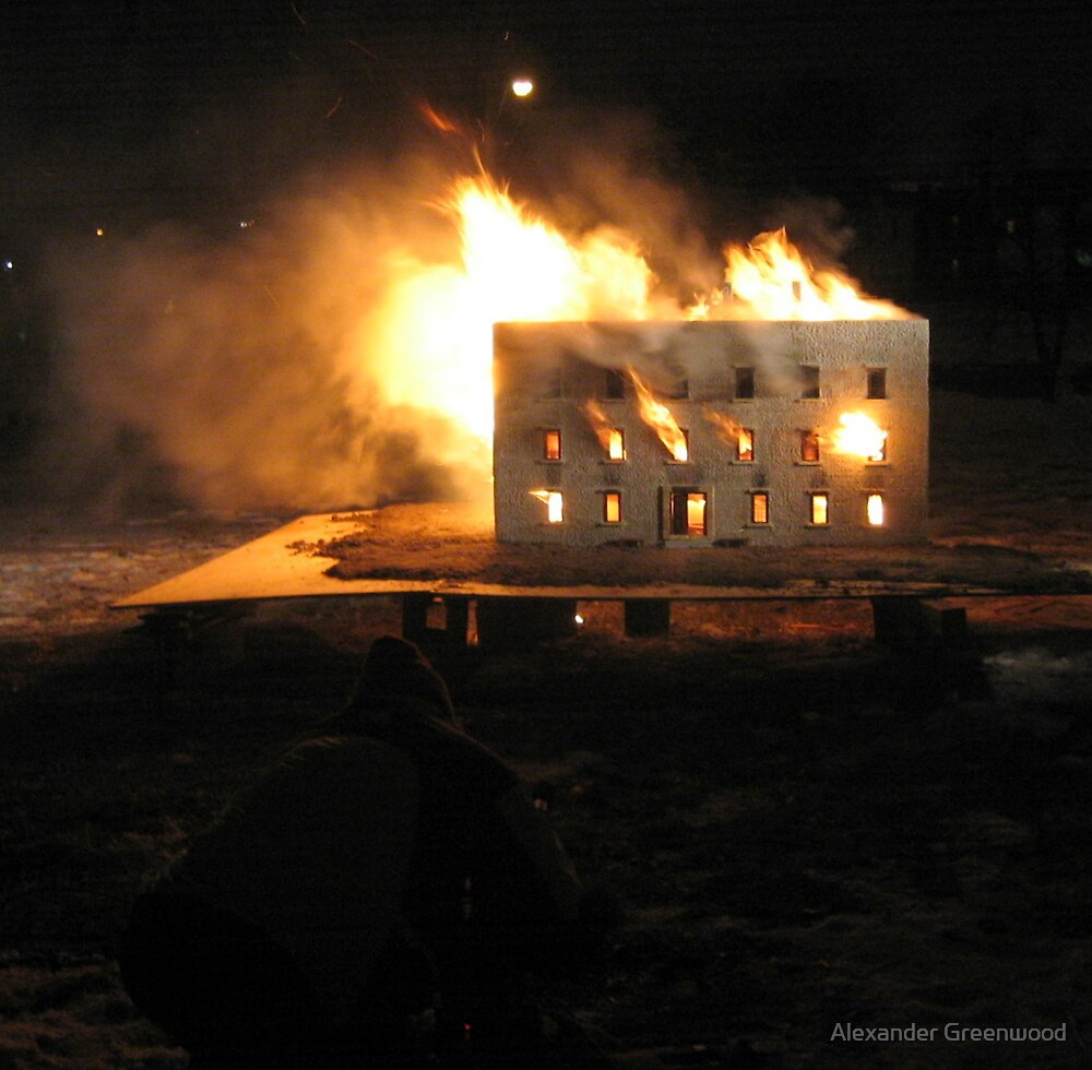 Hotel on Fire by Alexander Greenwood