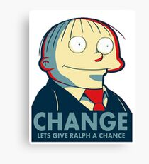 Ralph Wiggum for President 2016 Canvas Print