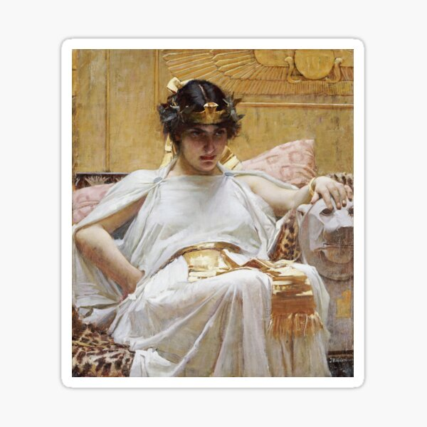 John William Waterhouse - Cleopatra Sticker