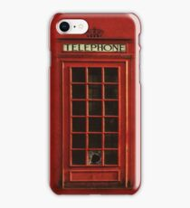 Vintage Telephone Box iPhone Case iPhone Case/Skin