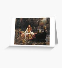 John William Waterhouse - The Lady Of Shalott 1888 Greeting Card